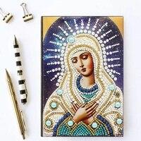 50 seiten Diamant Malerei Notebook DIY Spezielle Geformt Stickerei Kreuz Stich A5 Tagebuch Buch Handwerk
