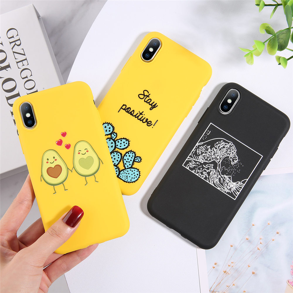 H84adca98007e452cb6c7d4502db3d893h - Lovebay Silicone Phone Cases For iPhone 7 XR 11 Pro Avocado Waves Cactus For iPhone 5SE 6 6s 8 Plus X XS Max Soft TPU Back Cover
