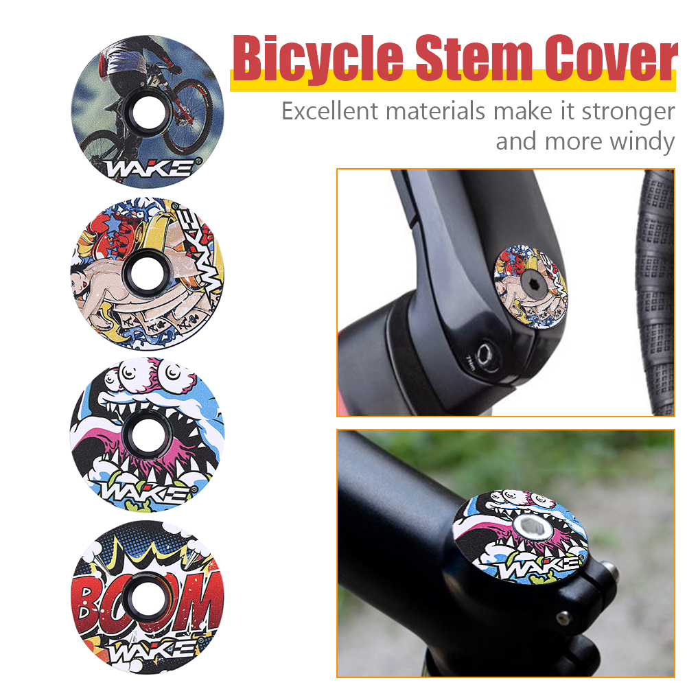 WAKE Bicycle Headset Fork Top Cap CNC MTB Mountain Bike Stem Top Cover Cycling Equipment Accessories
