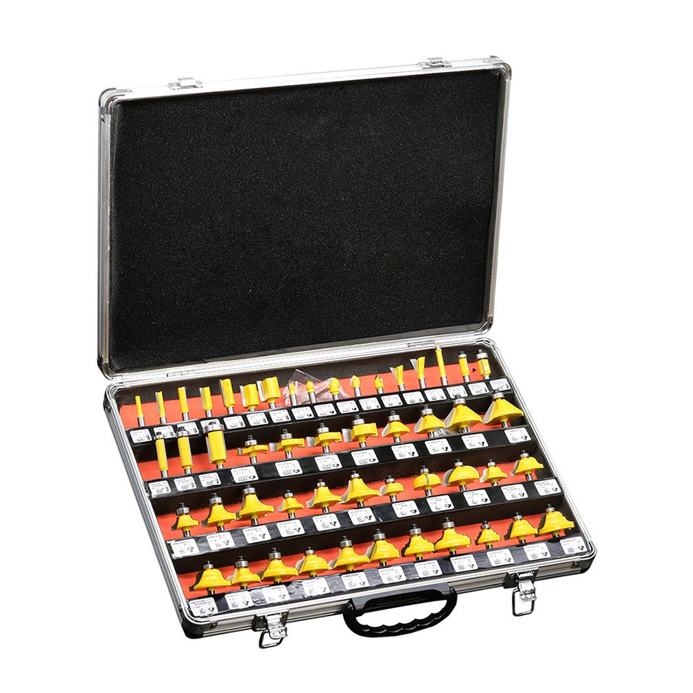35-Pieces Milling Cutter Set Trimming Machine Woodworking Milling Cutter Head Set Milling Cutter Set
