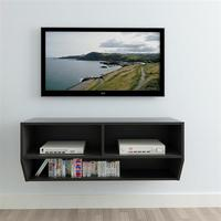 wall tv stand living room furniture modern tv table entertainment center monitor stand flat screen tv cabinet riser Black