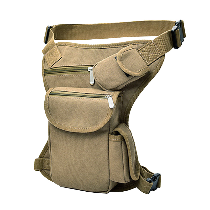 CCRXRQ Men Canvas Drop Legbags Tactical Waist Bag Riding Motorcycle Thigh Belt Bum Bag Travel Multifunctionl Military Pocket