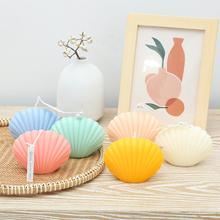 Creative Decorative Aromatic Shell Candles Home Decor Candles Birthday Supplies Gifts Party Decor Props R8U1