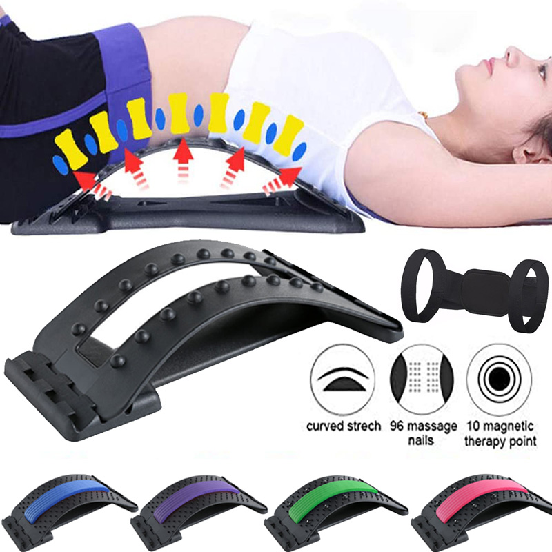 Back Stretcher Massager Magic Stretcher Fitness Lumbar Support Relaxation Pain Relief Home Muscle Relaxing Fitness Equipment