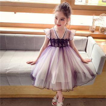 Kids Clothes Girls Dress Summer Toddler Girl Clothing Princess Dress Baby Girl Party Dress Ball Gown for Girls 3-7Y purple baby girls bow dress summer clothes for kids girls dress girl princess party dress 2017 new arrival children clothing