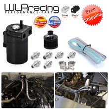 FREE SHIPPING Baffled Aluminum Oil Catch Can Reservoir Tank / Oil Tank With Filter Universal WLR TK64