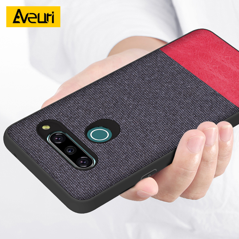 Aveuri Luxury Fabric Phone <font><b>Case</b></font> For <font><b>LG</b></font> G8S G8 ThinQ Stylo 5 Coque Business PU <font><b>Leather</b></font> Silicone Back Cover For <font><b>LG</b></font> <font><b>V40</b></font> K40 <font><b>Case</b></font> image