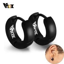 VNOX Nette Hoop Ohrringe für Männer Punk Edelstahl Huggie Kleine Ohrringe 4 Farbe