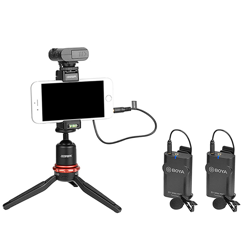 Image 5 - RU Stock Boya BY WM4 Mark II/BY WM4 Pro Wireless Studio Condenser Microphone Lavalier Lapel Interview Mic for iPhone DSLR Camera-in Microphones from Consumer Electronics