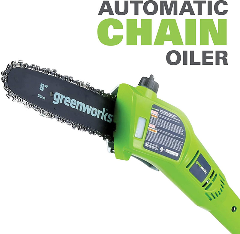 Tools : new arriaval GreenWorks 20302 G-MAX 40V 8-Inch Cordless Pole Saw and hedge trimmer comb battery and charger include