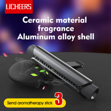 Licheers Luxe Auto Air Vent Parfum Aluminium Ontwerp Auto Luchtverfrisser Parfums Met 4 Effen Essentiële Olie Auto Houder