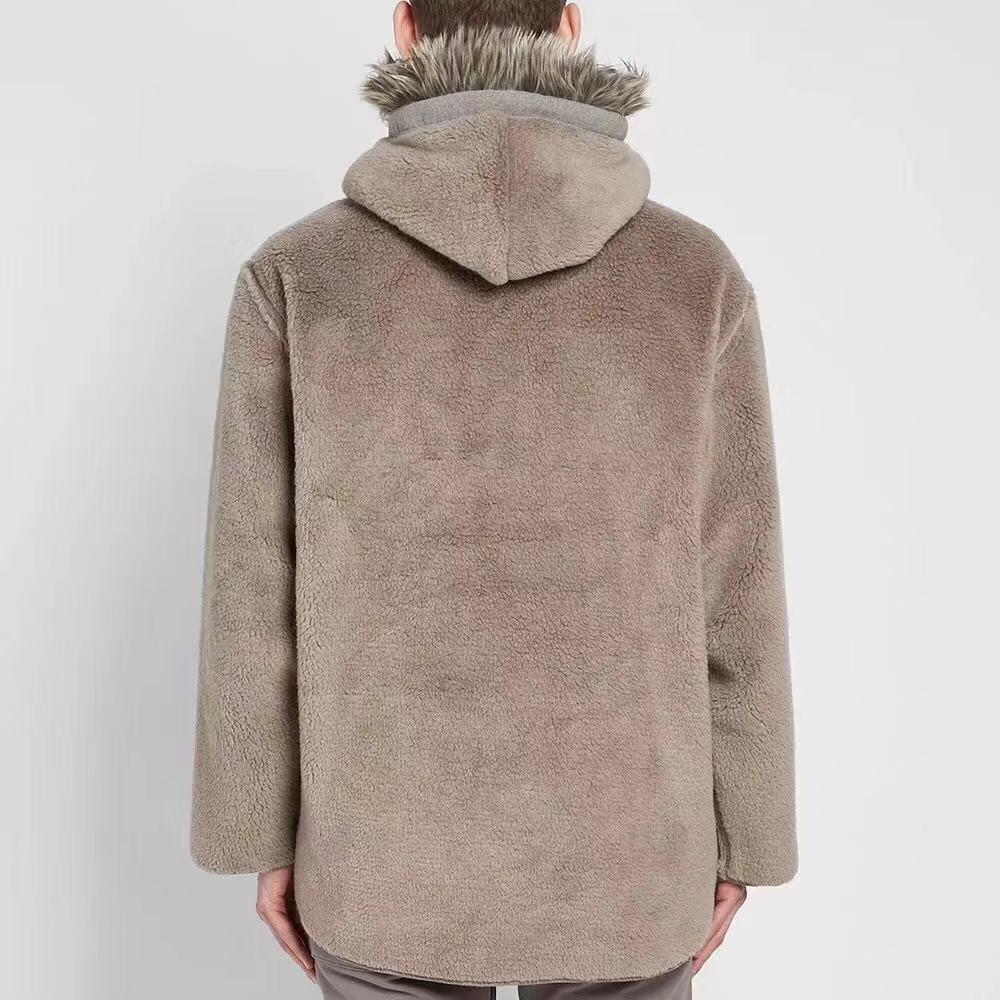 20ss início de alta qualidade mais recente hip hop justin bieber temporada 6 das mulheres dos homens nevoeiro villus jaqueta casaco moda streetwear - 2