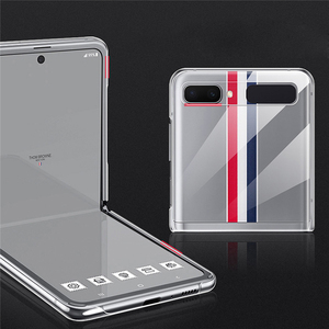 Image 2 - Smartphone Protective Shell for Samsung Galaxy Z Flip Mobile Phone Accessories Clear Crystal Hard PC Back Cover Shockproof Case