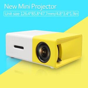 Image 3 - AAO YG300 Mini projecteur Audio YG 300 HDMI USB Mini projecteur Support 1080P lecteur multimédia maison enfant jouer YG310 cadeau Proyector