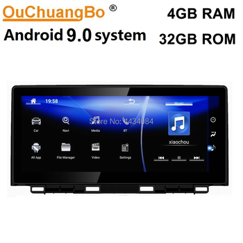 Ouchuangbo 10.25 inch car gps audio video for Lexus NX200 NX300 200h 300h 2018 support LHD and RHD 8 cores 1080P android 9.0 OS