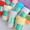 SEWBATO 70x100cm Minky Fabric For Sewing 30 Colors Super Soft Eco-Friendly Polyester Minky Dot Plush Fabrics By The Meter 1