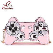 Fun Cartoon  Game Stlyle Fashion Small Crossbdoy Bag for Women 2020 Purses and Handbag Clutch Bag Shoulder Bag with Chain Strap