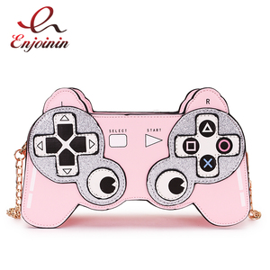 Image 1 - Fun Cartoon  Game Stlyle Fashion Small Crossbdoy Bag for Women 2020 Purses and Handbag Clutch Bag Shoulder Bag with Chain Strap
