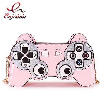 Fun Cartoon  Game Stlyle Fashion Small Crossbdoy Bag for Women 2020 Purses and Handbag Clutch Bag Shoulder Bag with Chain Strap fashion women s clutch bag with engraving and stitching design