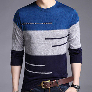Image 2 - 2020 Brand Male Pullover Sweater Men Knitted Jersey Striped Sweaters Mens Knitwear Clothes Sueter Hombre Camisa Masculina 100