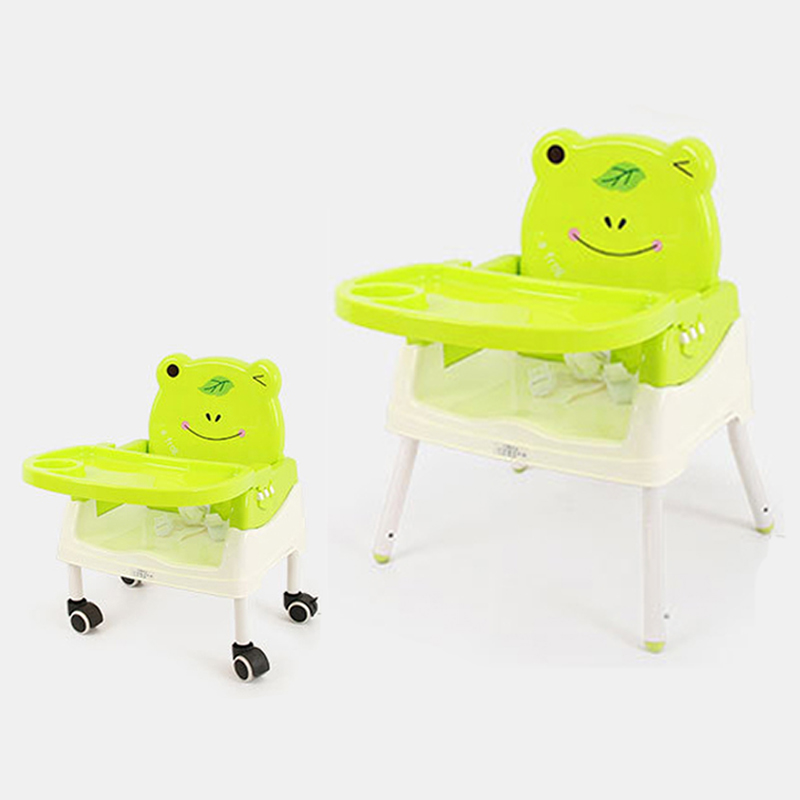 Baby Feeding Chair Baby High Chair Foldable Kids Dining Seat With Food Grade Material Plate Yo Yo Car For Children Eating Happy