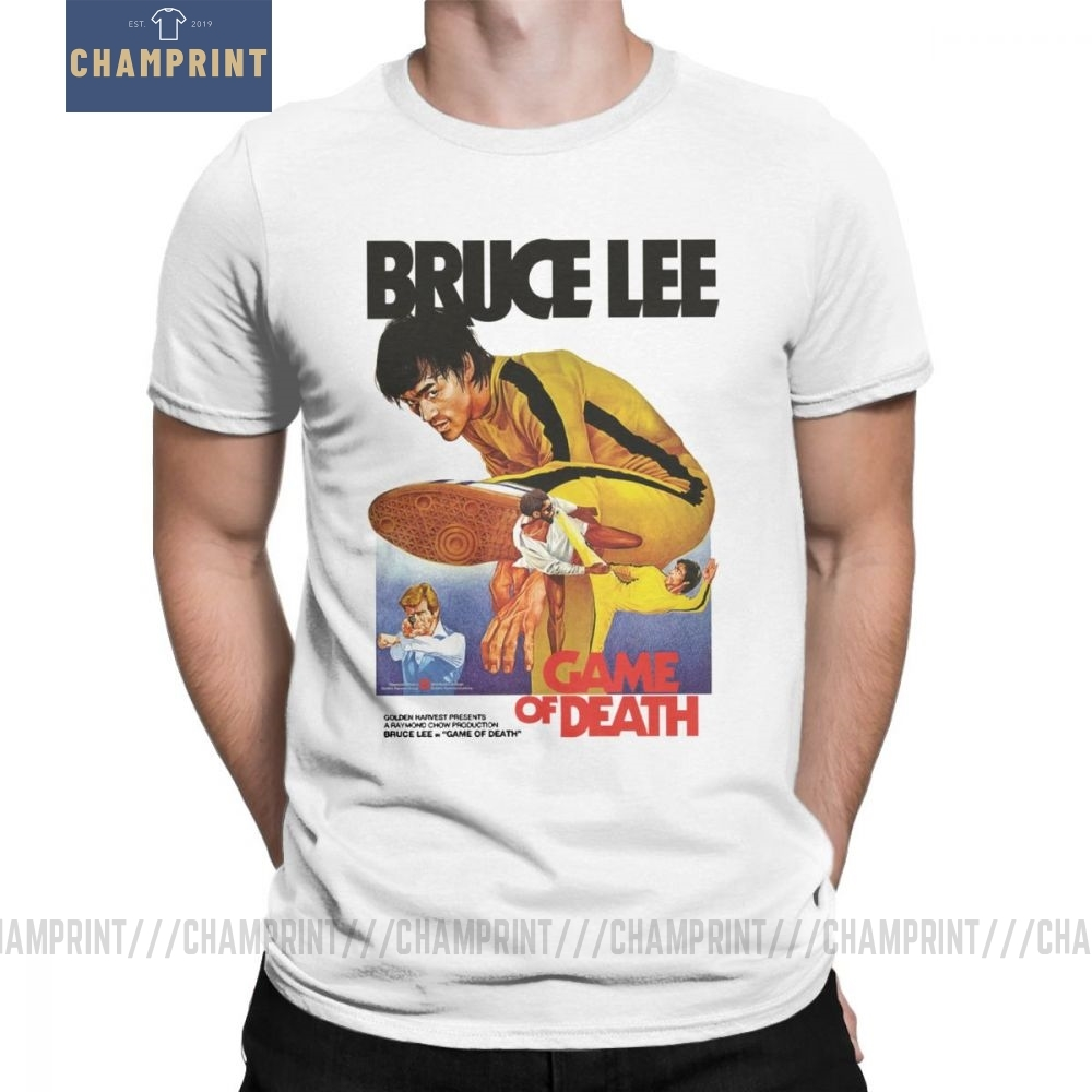 Game Of Death Bruce Lee T Shirt Men Cotton Creative T-Shirt Dragon Movie Kung Fu Brusli Karate China Tees Short Sleeve Tops image