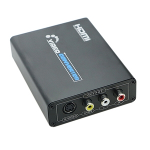 HDMI в композитный 3RCA AV S-Video R/L o видео конвертер адаптер Поддержка 720P/1080P с RCA/s-видео кабель для ПК PS3 TV