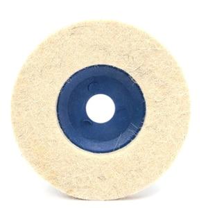 Image 2 - 100มม.ล้อขัดขัด Beige Buffing แผ่นบดเครื่องบดมุมล้อ Felt Polisher Disc สำหรับเซรามิคแก้วโลหะพลาสติก