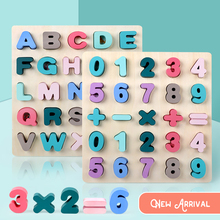 Educational-Toys for Children Learning-Developing-Toy Alphabet-Board Jigsaw-English Montessori