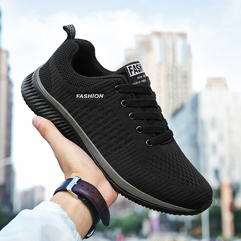 Men's Sneakers Running Shoes Fly Weaving Ordinary Joker Easy To Match