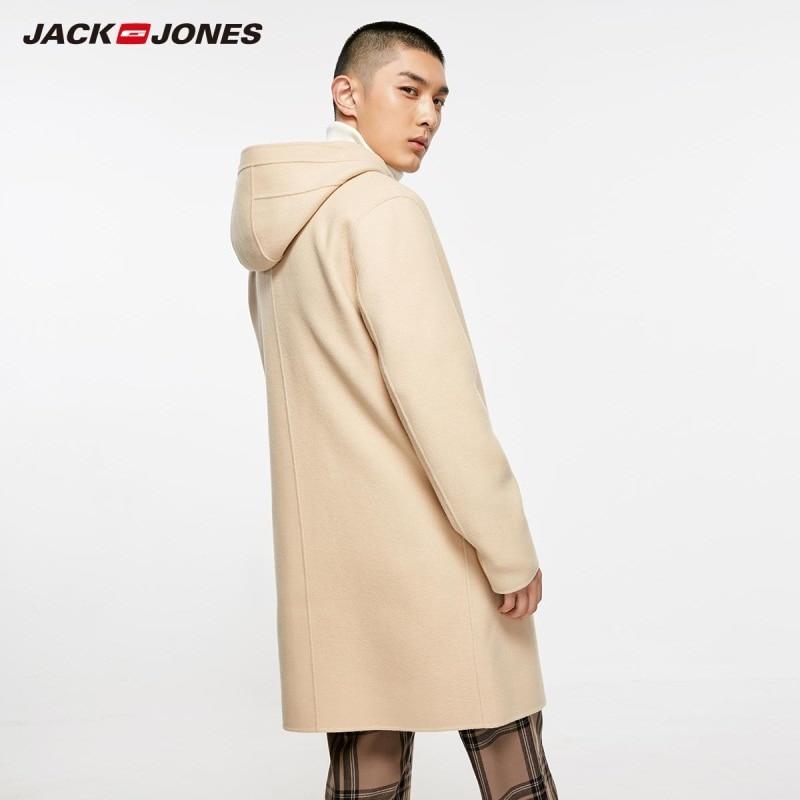 JackJones Autumn men's wool blend hooded casual long coat 218327516-in Wool & Blends from Men's Clothing    3