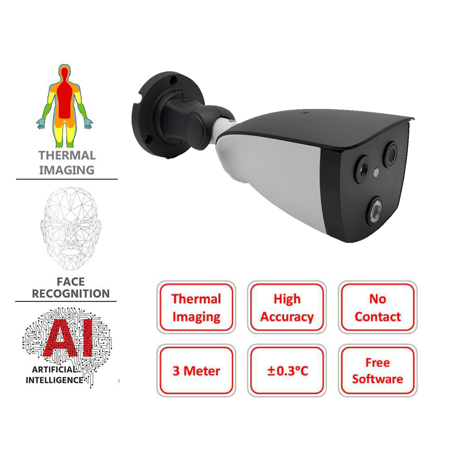 Body Temperature Measurement Thermal Camera  Fever Screening Solution without Tripod