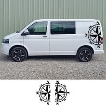 Autocollants latéraux de carrosserie en vinyle, 2 pièces, pour Volkswagen VW Multivan Transporter Caravelle T4 T5 T6, accessoires de carrosserie