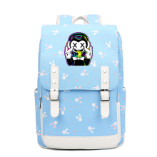 купить Hot Game Bendy and the Ink Machine Batim Printing Backpack Rabbits Design Women Pink Backpack Canvas School Bags Laptop Backpack дешево