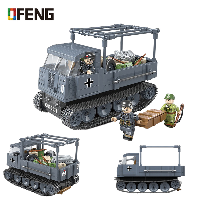 Military German Tank Building Blocks Compatible Army WW2 City Figures Weapon Bricks Sets Boys Toys Birthday Gifts