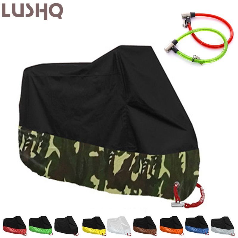 Motorcycle Cover Tent Waterproof Outdoor Funda Moto Housse For <font><b>HONDA</b></font> ST1300 XR 250 <font><b>SH</b></font> 300 SUPER CUB CBR 900 RR <font><b>SH</b></font> 125 CRF 450 image