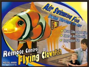 Image 5 - Globo de tiburón a Control remoto para niños, globo de tiburón grande volador, globo inflable de helio, pez payaso, Animal, peces de natación, interacción para niños