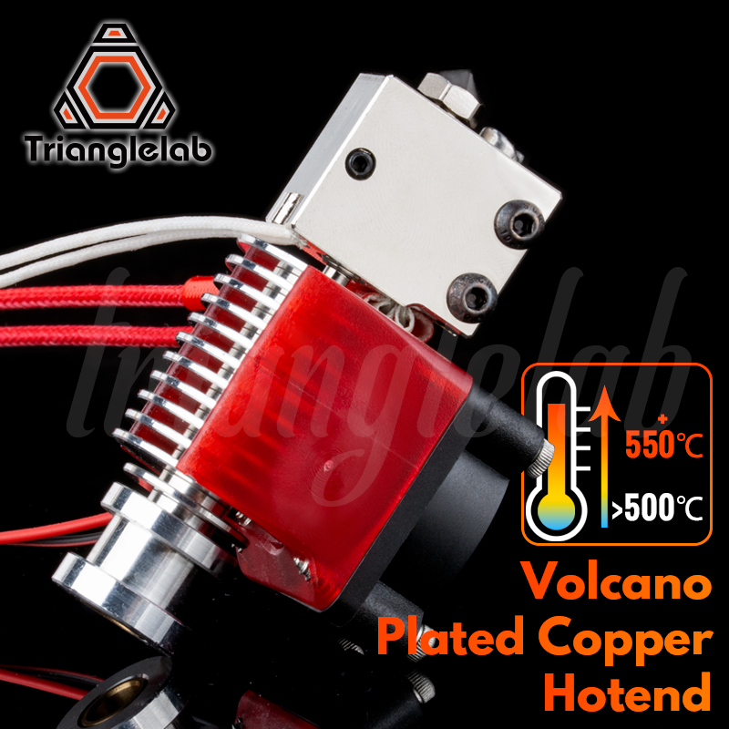 Trianglelab Volcano Plated Copper Hotend High Temperature Nozzle Heat Block Heat Break Heatsink For PETG PEEK PEI Carbon Fiber