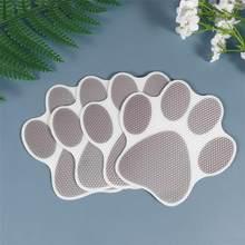 10 pçs cão pegada adesivos banheira dos desenhos animados adesivos antiderrapantes decalques autoadesivos banheira pasters