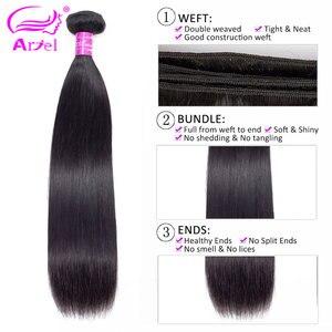 Image 3 - Ariel ผมผมตรงบราซิล 100% มนุษย์ผมสานการรวมกลุ่ม Non   Remy Hair Extensions ธรรมชาติสีซื้อ 3 หรือ 4 กลุ่ม
