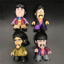 "4.5""The band Collectible TITANS  JOHN LENNON/ GEORGE HARRISON/ RINGO STARR model toy 3inch"
