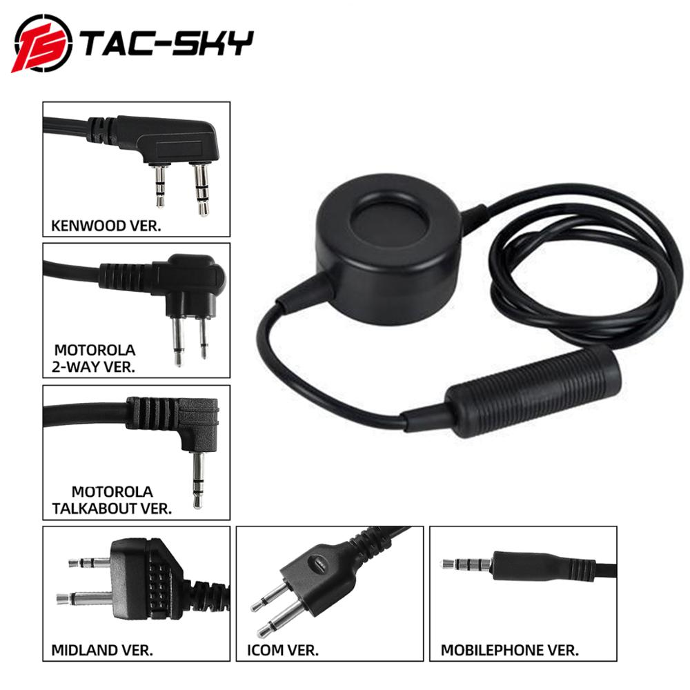 TAC-SKY TCI PTT Tactical Headset Walkie-talkie PTT Applicable To Military Tactical Hunting Sports Shooting Headphones Tcl Ptt