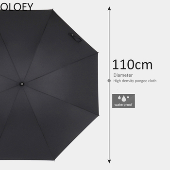 Large Japanese Long Umbrella 8K Windproof Wooden Uv Handle Large Men Umbrellas Rain Sun Umbrella Rain Women Black Golf Umbrellas