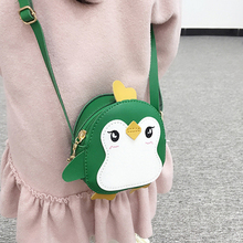 Animal Penguin Shape Shoulder Bag Kids Girls Crossbody Bag Cute Clutch Leather Mini Handbag Bags Small Messenger Bag