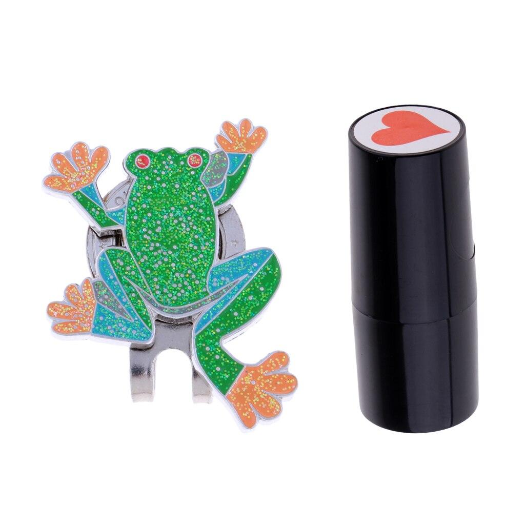 Colorfast Golf Ball Stamper Stamp Marker Impression Seal Gift Heart Seal & Hat Cap Clip Detachable Ball Marker Hot Sale