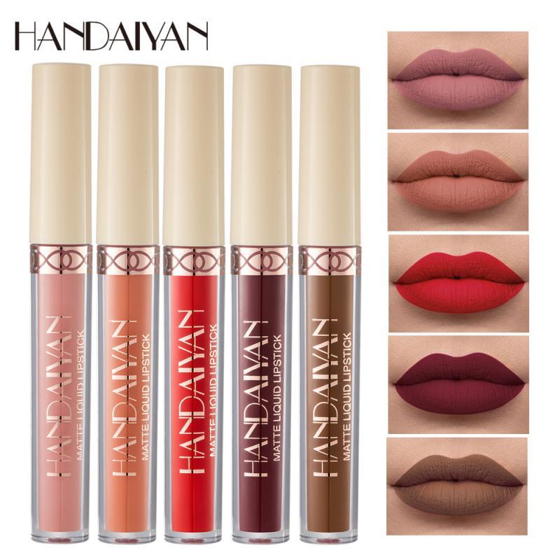 HANDAIYAN 12 Farben Matte Rose Lip Gloss Dauerhafte Nicht Einfach Zu Fleck Tasse Rot Samt Flüssigkeit Lippenstift Mädchen Kosmetische Geschenk TSLM1