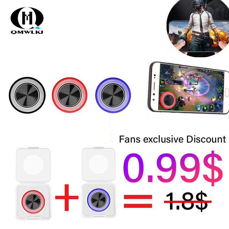 Round Game Joystick Mobile Phone Rocker Metal Button Controller game pad for pubg Suction Cup pubg gamepad For iPhone Android image