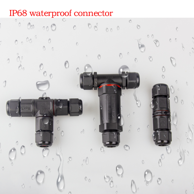 Conector eléctrico a prueba de agua IP68, 2 pines, 3 pines, 4 pines, 5 pines, conector adaptador de cable, tornillo, Pin de luz LED