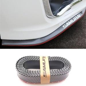 2,5 m protector de labios para parachoques de coche tira de goma de fibra de carbono para Jaguar XF XJ XJS XK S-TYPE X-TYPE XJ8 XJL XJ6 XKR XK8 XJS X320 X308