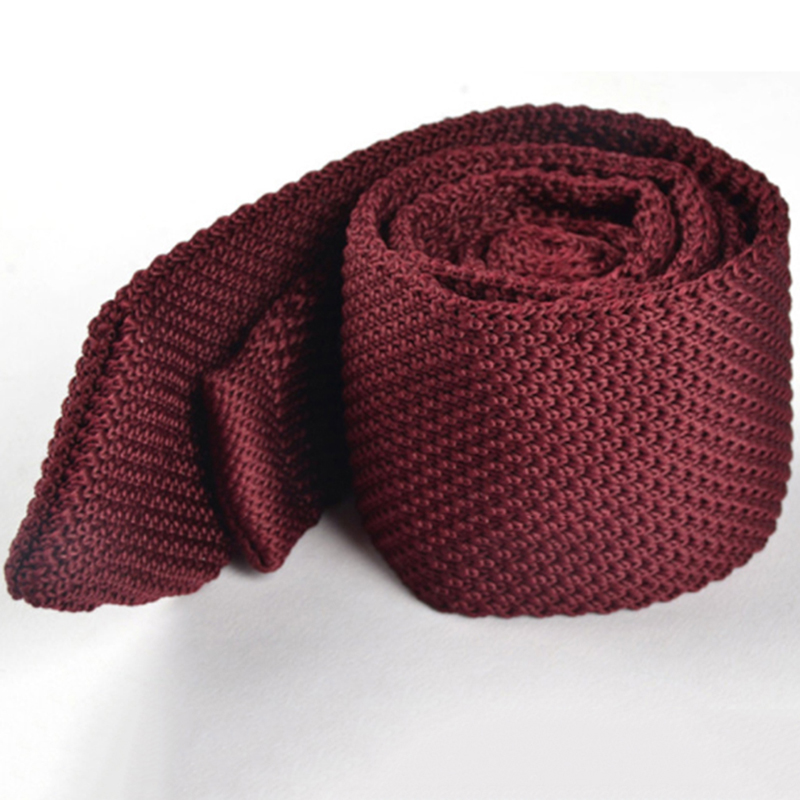 Men's Colourful Tie Knit Knitted Ties Necktie Solid Color Narrow Slim Skinny Woven Plain Cravate Narrow Neckties Fashion
